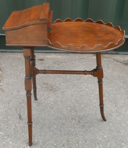 Mahogany Pedestal Occasional Table